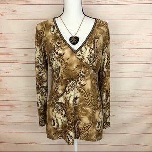 AGB Byer California Paisley Tunic Top